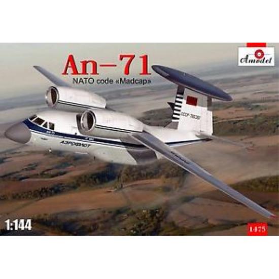 "Antonov An-71 ""Madcap"" Soviet AWACS aircraft 1/144 Amodel AMO1475"
