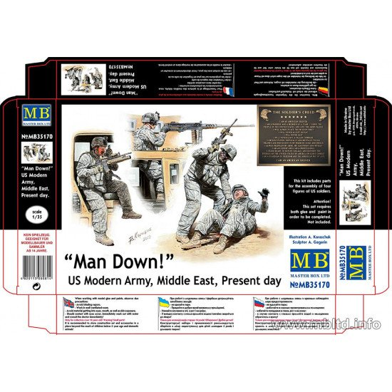 Man Down! US Modern Army, Middle East, Present day 1/35 Master Box 35170