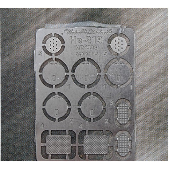 Photo-etched set for He-219 1/48 Metallic Details MD-PE4805