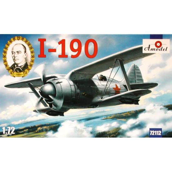 BIPLANE DESIGN NN POLIKARPOV SOVIET FIGHTER I-190. 1/72 AMODEL 72112