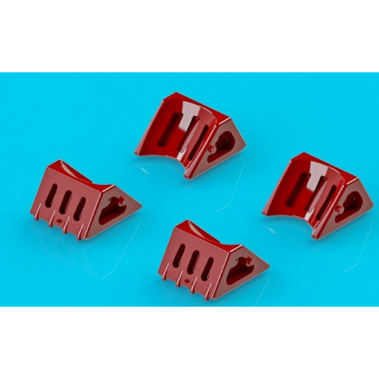 Wheel chocks for An-24, An-26, 4 pcs in a set 1/144 Northstar Models 144009