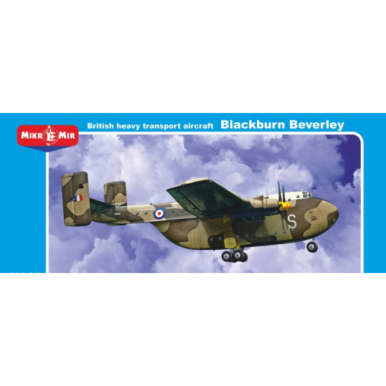 "BRITISH HEAVY TRANSPORT AIRCRAFT ""BLACKBURN BEVERLEY"" 1/144 MICRO-MIR 144-008"