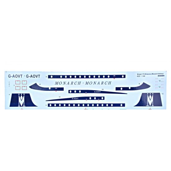 BRISTOL 175 BRITANNIA MONARCH AIRLINES 1/144 RODEN 323
