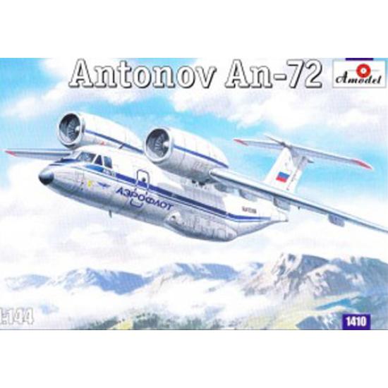 ANTONOV AN-72 SOVIET TRANSPORT AIRCRAFT 1/144 AMODEL 1410
