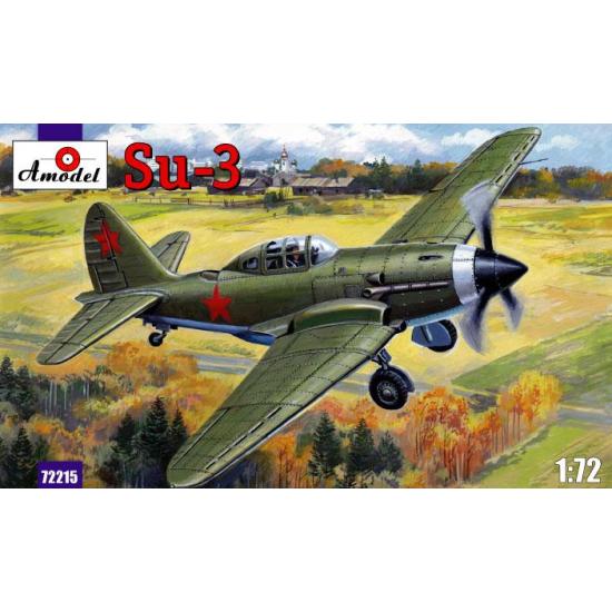 SUKHOI SU-3 SOVIET FIGHTER 1/72 AMODEL 72215