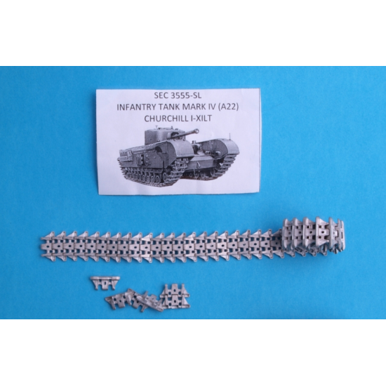 "ASSEMBLED METAL TRACKS FOR ""CHURCHILL"" BRITISH INFANTRY TANK 1/35 SECTOR35 3555-SL"