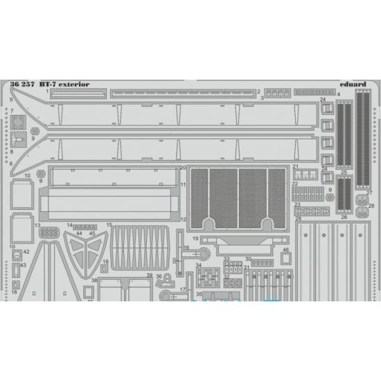 PHOTO-ETCHED SET  BT-7 EXTERIOR, FOR TAMIYA KIT 1/35 EDUARD 36257