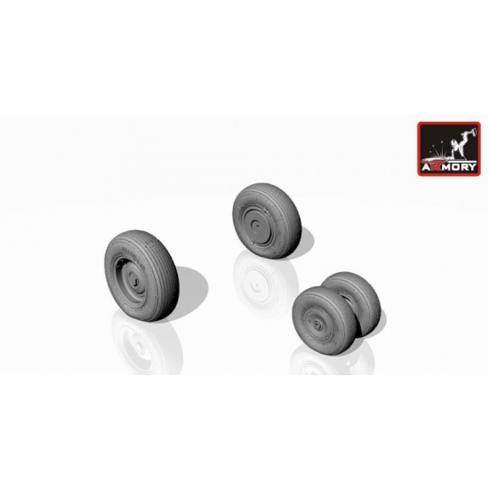 MIL MI-8/17 HIP WHEELS, WEIGHTED 1/144 ARMORY AW14006