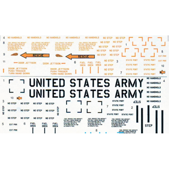 DECAL FOR HELICOPTER CH-47 CHINOOK PART 2 1/32 PRINT SCALE 32-008