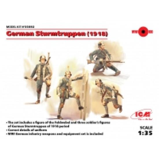 GERMAN STURMTRUPPEN (1918) (4 FIGURES) 1/35 ICM 35692