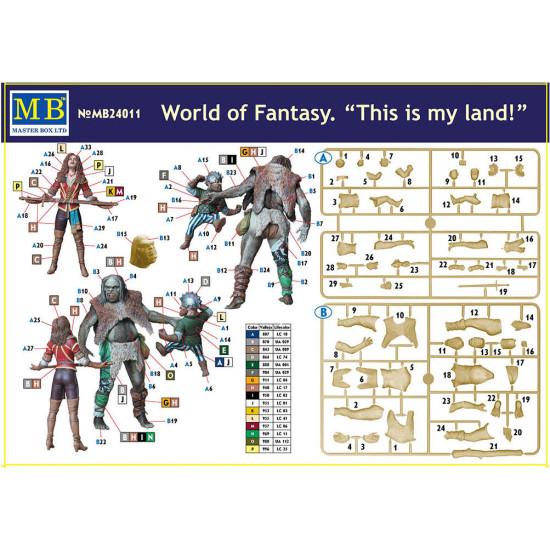 WORLD OF FANTASY THIS IS MY LAND PLASTIC MODEL KIT 1/24 MASTER BOX 24011