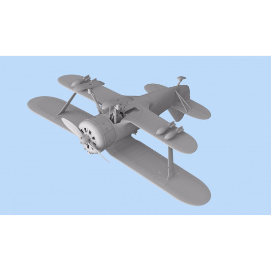 PLASTIC MODEL AIRPLANE I-153, WWII FINNISH AIR FORCE FIGHTER 1/72 ICM 72075