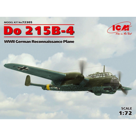 PLASTIC MODEL AIRPLANE DO 215B-4, WWII RECONNAISSANCE PLANE 1/72 ICM 72305