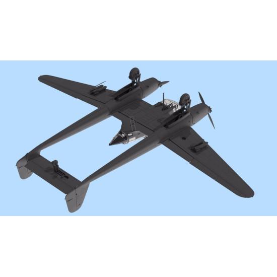 PLASTIC MODEL BUILDING AIRPLANE FW 189A-2, WWII GERMAN RECONNAISSANCE PLANE 1/72 ICM 72292