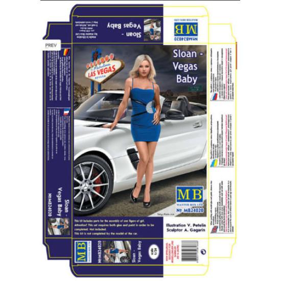 SLOAN - VEGAS BABY, DANGEROUS CURVES SERIES PLASTIC MODEL KIT 1/24 MASTER BOX 24020