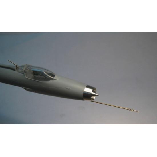 AIR INTAKE, PITOT, ANTENNA FOR MIG-21F, FOR MODELSVIT KIT 1/72 MINI WORLD 7248