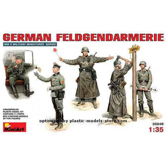 GERMAN FELDGENDARMERIE - PLASTIC MODEL KIT SCALE 1/35 MINIART 35046