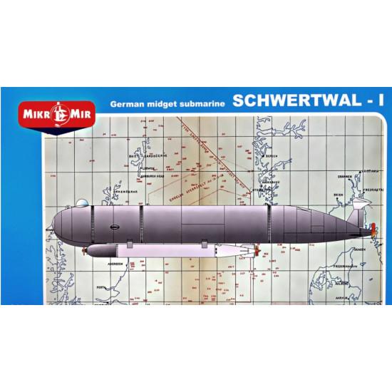 GERMAN MIDGET SUBMARINE SCHWERTWAL I 1/35 MICRO MIR 35-016