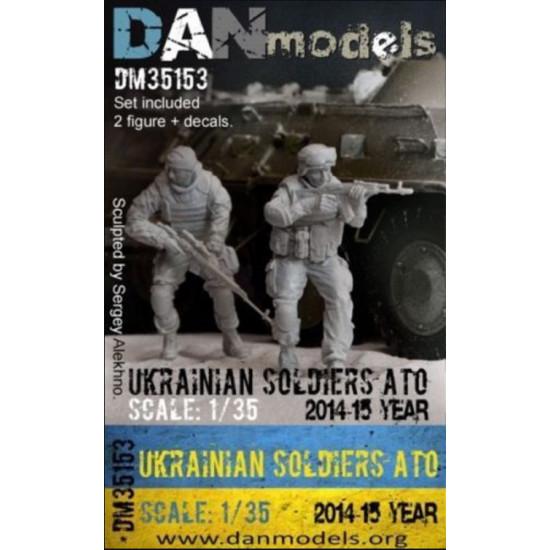 UKRAINIAN 2 SOLDIERS, ATO(ANTI-TERRORISTIC OPERATION), EAST UKRAINE 2014-2015 (RESIN) 1/35 DAN MODELS 35153
