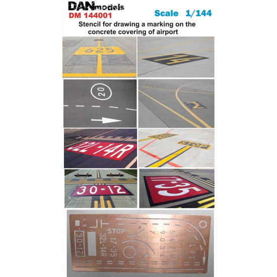 MASK FOR DRAWING A MARKING ON THE CONCRETE OF AERODROME 1/144 DAN MODELS 144001