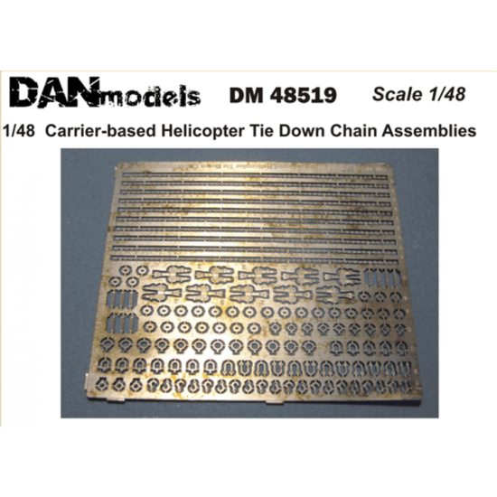 CARRIER-BASED HELICOPTER TIE DOWN CHAIN ASSEMBLIES 1/48 Dan Models 48519