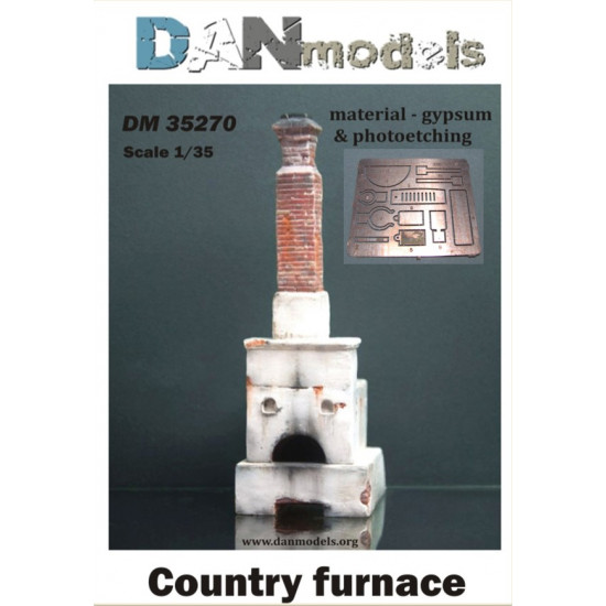 MATERIAL FOR DIORAMAS. COUNTRY FURNACE. MATERIAL — GYPSUM AND PHOTOETCHING 1/35 DAN MODELS 35270