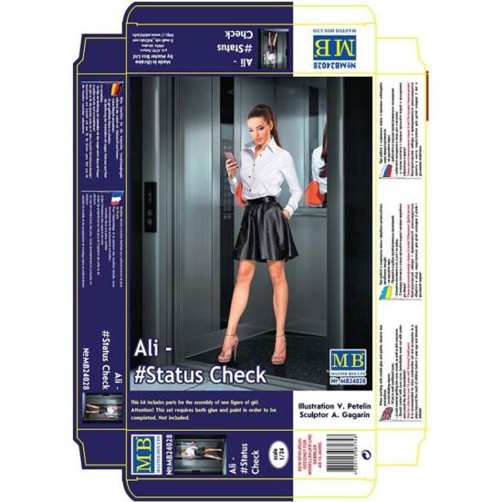 ALI - STATUS CHECK, DANGEROUS CURVES SERIES PLASTIC MODEL KIT 1/24 MASTER BOX 24028