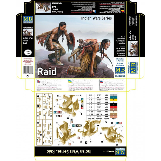 INDIAN WARS SERIES - RAID 1/35 MASTER BOX 35138