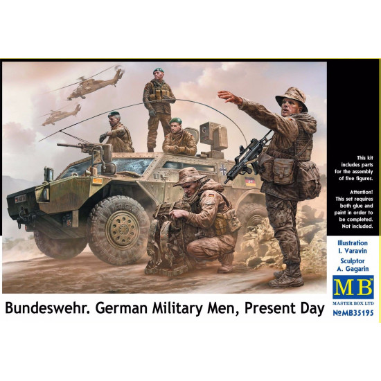 BUNDESWEHR GERMAN MILITARY MEN, PRESENT DAY 1/35 MASTER BOX 35195