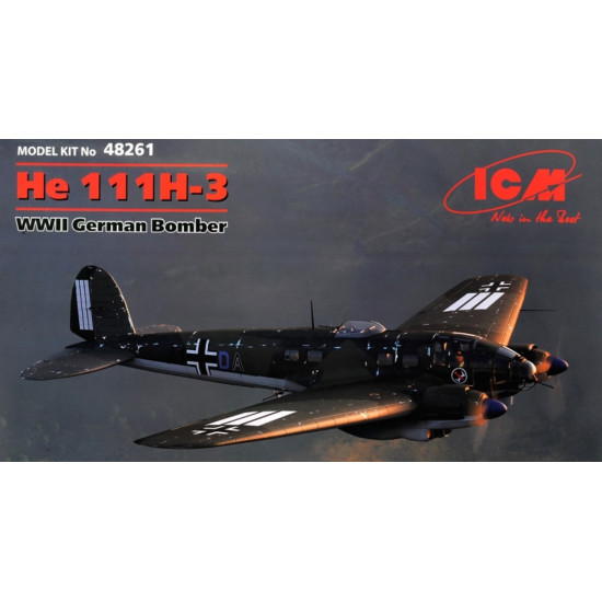 WW II German bomber He 111H-3, 2 MB 1/48 ICM 48261