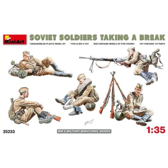 PLASTIC MODEL BUILDING KIT SOVIET SOLDIERS TAKING A BREAK 1/35 MINIART 35233