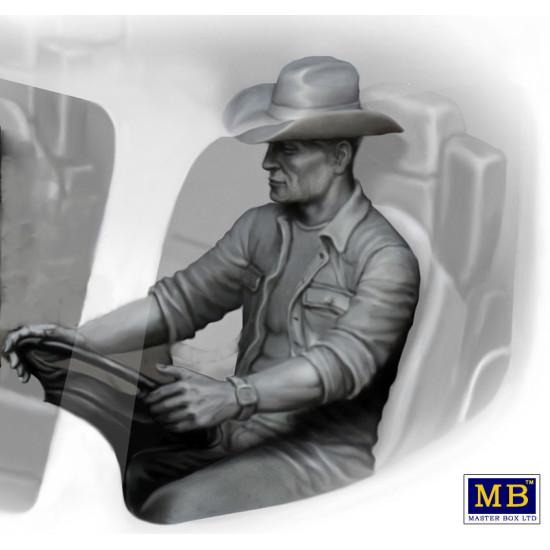 MIKE (BEACH BOY) BARRINGTON - TRUCKERS SERIES PLASTIC MODEL KIT 1/24 MASTER BOX 24044