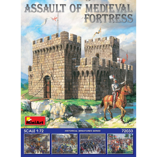 ASSAULT OF MEDIEVAL FORTRESS - PLASTIC MODEL KIT SCALE 1/72 Miniart 72033