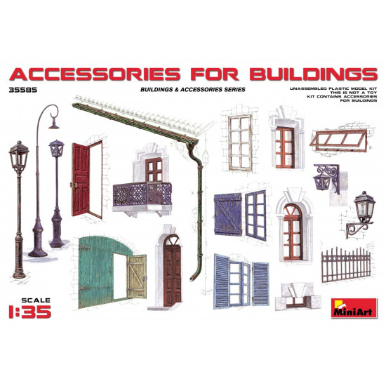 ACCESSORIES FOR BUILDINGS - PLASTIC MODEL KIT SCALE 1/35 MINIART 35585