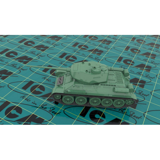 Т-34-85 WWII SOVIET MEDIUM TANK SCALE 1/35 ICM 35367