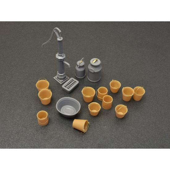 WATER PUMP SET - PLASTIC MODEL KIT SCALE 1/35 MINIART 35578
