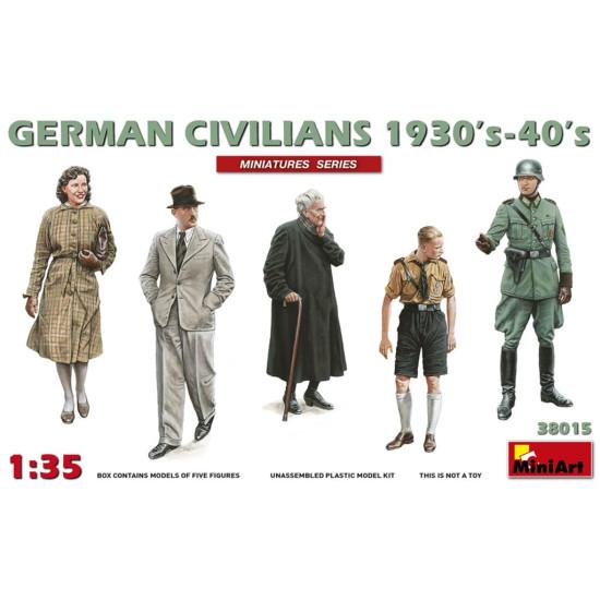 GERMAN CIVILIANS 1930's-1940's - PLASTIC MODEL KIT SCALE 1/35 MINIART 38015