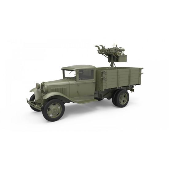 MINIART 35186 1/35 SCALE SOVIET 1,5T TRUCK M-4 MAXIM AA MACHINE GUN WW II