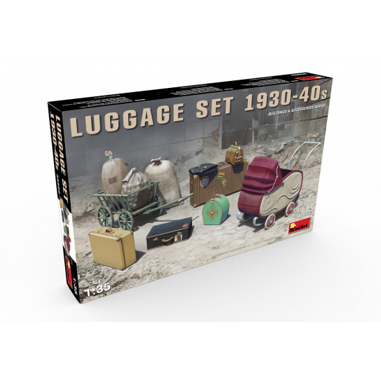 LUGGAGE SET 1930-1940s MINIART 35582 1/32 SCALE MODEL KIT ACCESSORIES