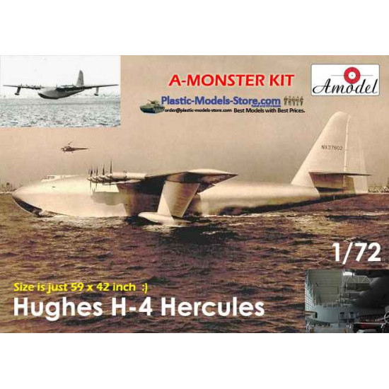 FREE SHIPPING! H-4 Hughes Hercules Spruce Goose 1/72 Amodel 72029