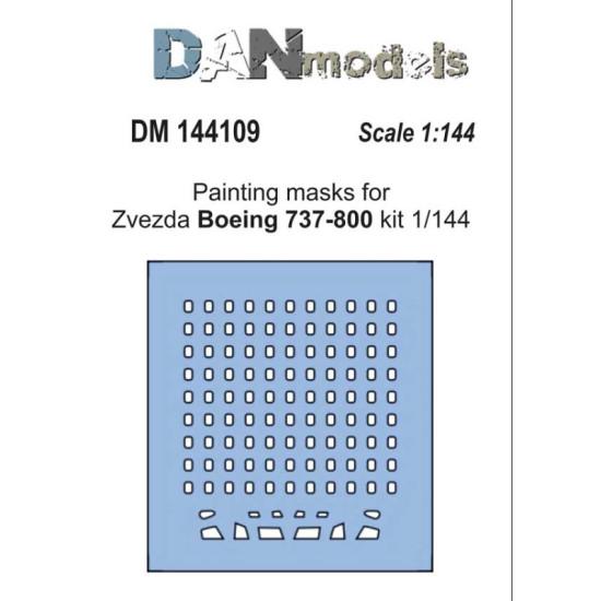 DAN MODELS 144109 PAINTING MASKS FOR MODEL BOING 737-800 ( ZVEZDA 7019 )