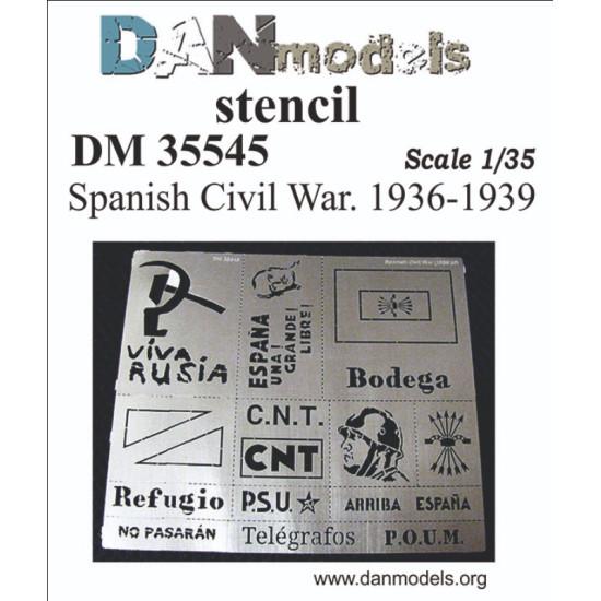 STENCIL SPANISH CIVIL WAR 1936-1939 DAN MODELS 35545