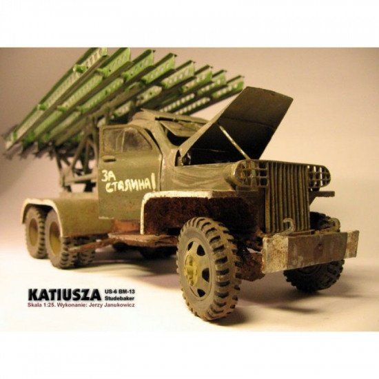 PAPER MODEL KIT MILITARY CARS , KATYUSHA ON STUDEBAKER-US6 CHASSIS 1/25 OREL 20