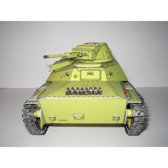 PAPER MODEL KIT MILITARY ARMOR TANK Т-30 1/25 OREL 22