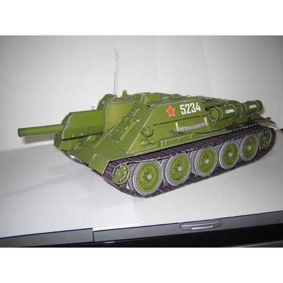 PAPER MODEL KIT MILITARY SELF-PROPELLED SU-122 1/25 OREL 25