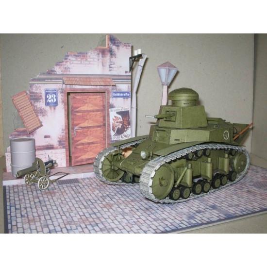 PAPER MODEL KIT MILITARY ARMOR LIGHT TANK Т-18 1/25 OREL 45