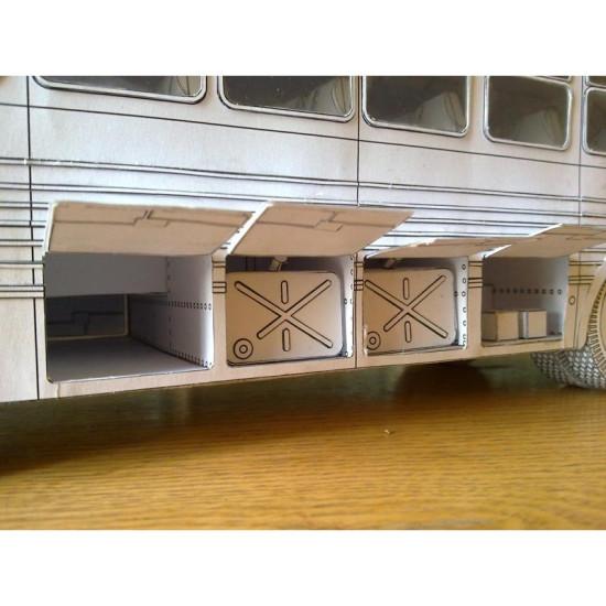 PAPER MODEL KIT CIVILIAN CARS , BUS ZIS-127 (ZIL-127) 1/25 OREL 109
