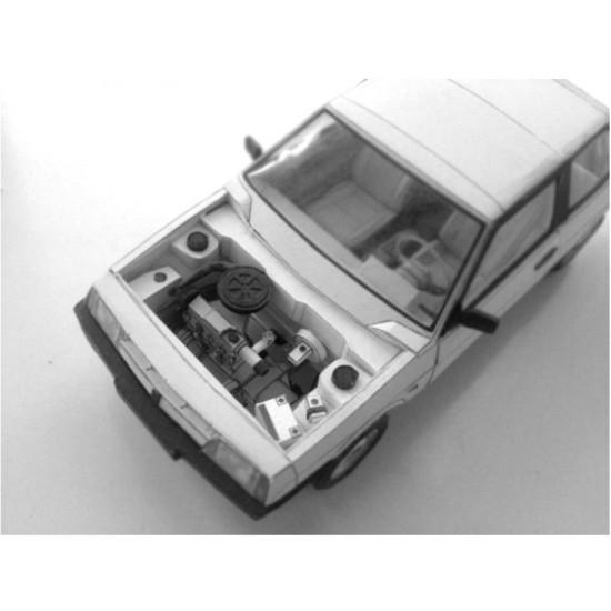 PAPER MODEL KIT CIVIL SOVIET CAR VAZ-2108 1/25 1984 YEAR OREL 252