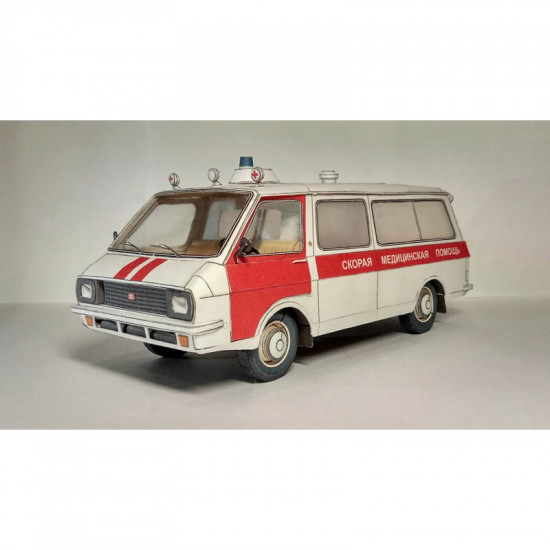 PAPER MODEL KIT AMBULANCE SOVIET CAR 1/25 OREL 256