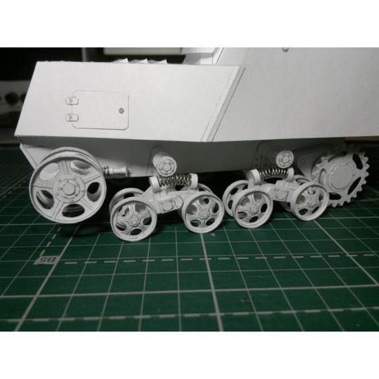 PAPER MODEL KIT SOVIET ARMORED TROOPER XT3 - 16 1/25 OREL 257